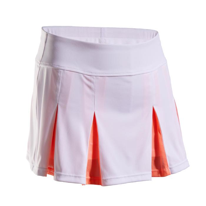 Tennisrokje 900 voor meisjes wit/roze