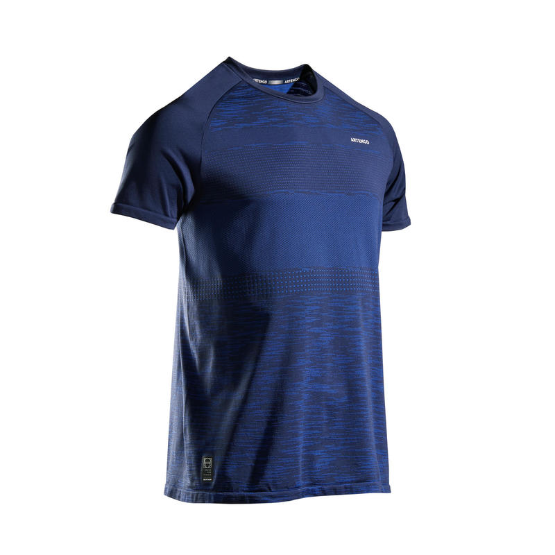 TENNIS T-SHIRT HEREN TTS 500 SOFT BLAUW
