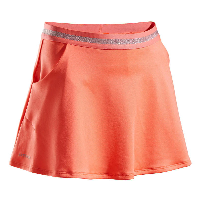 Girls' Tennis Skirt TSK500 - Coral