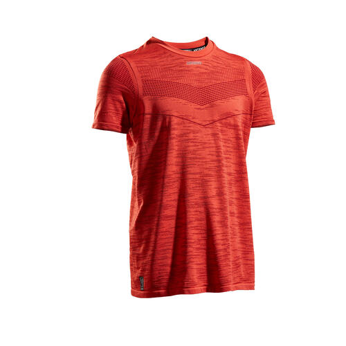 T SHIRT TENNIS JUNIOR GARCON 900 JAUNE ROUGE