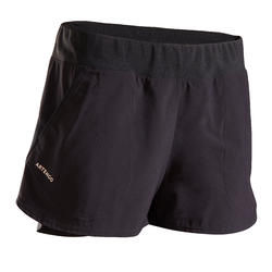 Women's Tennis Shorts SH Dry 500 - Black