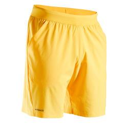 男款輕量網球短褲TSH 900 Light-黃色