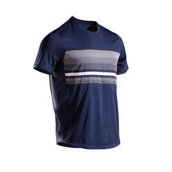 男款網球T恤TTS100 - 海軍藍