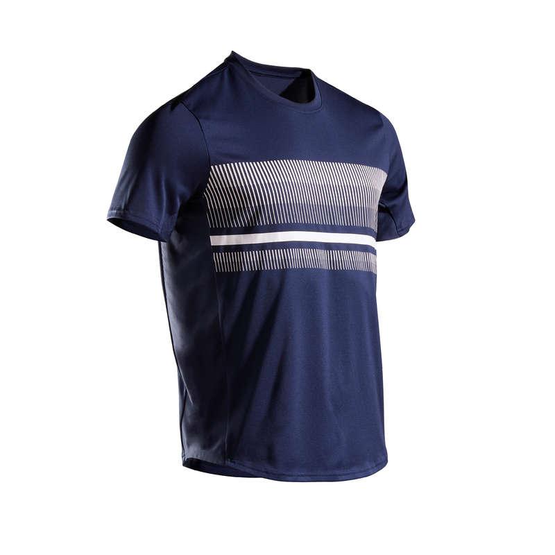 Tunna tenniskläder som andas, herr Herr - T-shirt TTS100 herr marinblå ARTENGO - Överdelar
