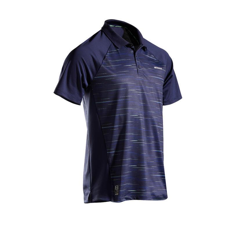 Men's Tennis Polo Shirt TPO 500 Dry - Blue Graphic
