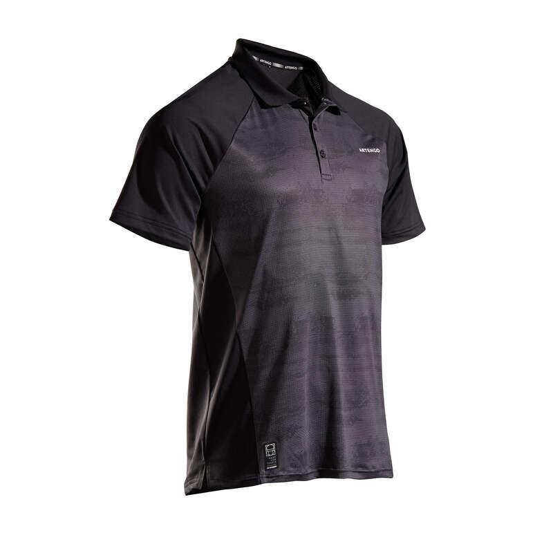 MEN WARM CONDITION RACKET SP APAREL Squash - TPO 500 Dry - Black/Silver ARTENGO - Squash Clothing