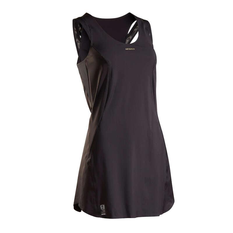 ABBIGLIAMENTO TUTTE LE STAGIONI DONNA Sport di racchetta - Vestito donna LIGHT 990 nero ARTENGO - PADEL