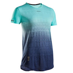 Women's Tennis T-Shirt TS Light 990 - Navy / Turquoise