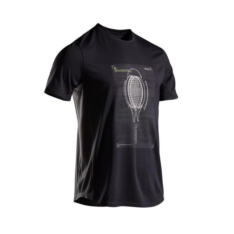 Camiseta de Tenis Artengo TTS100 Hombre Negro