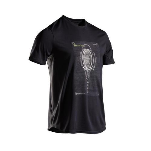 T shirt tennis homme TTS100 noir