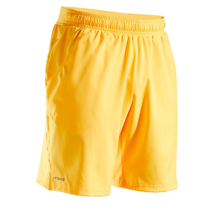 Erkek Tenis Şortu - Sarı - DRY TSH 500