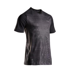 Men's Tennis T-Shirt TTS 500 Dry - Black Graphic