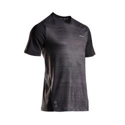 男款快乾網球T恤TTS 500-黑藍配色