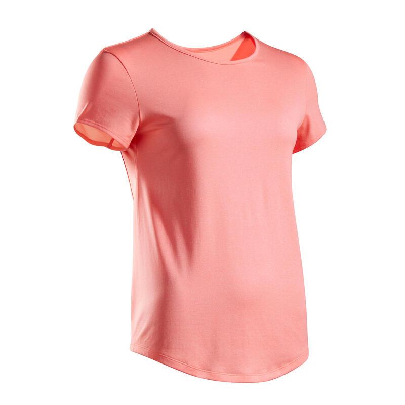 Kadın Tenis Tişörtü - Mercan Rengi - Dry 100