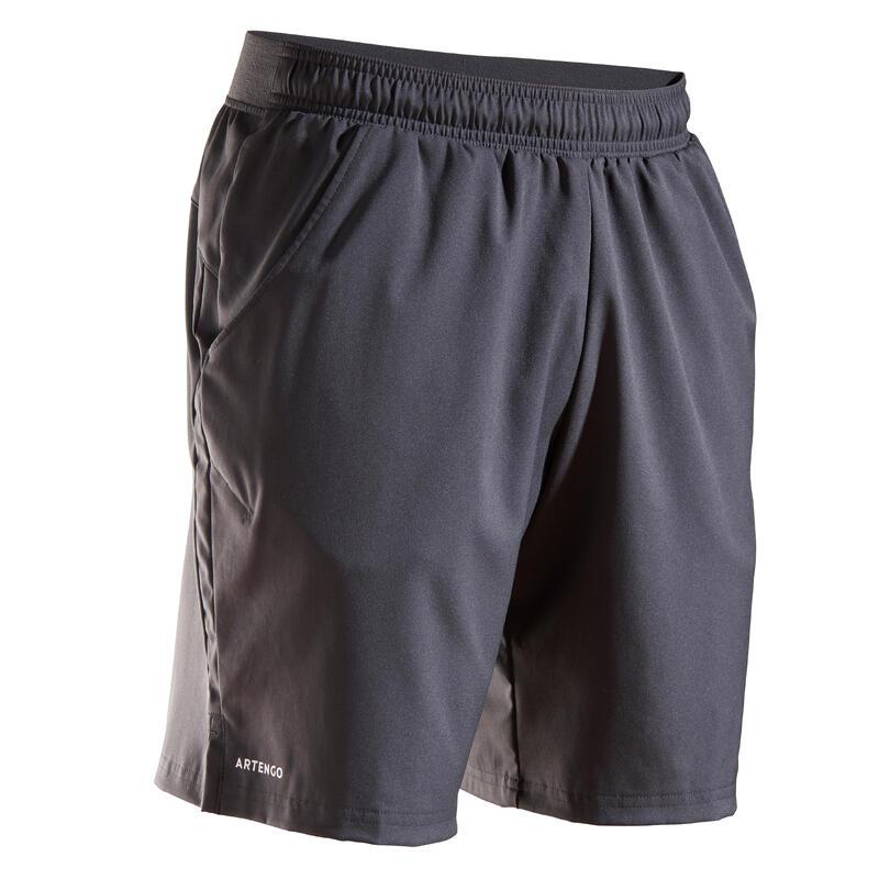 Şort Tenis Dry T500 Gri Bărbaţi