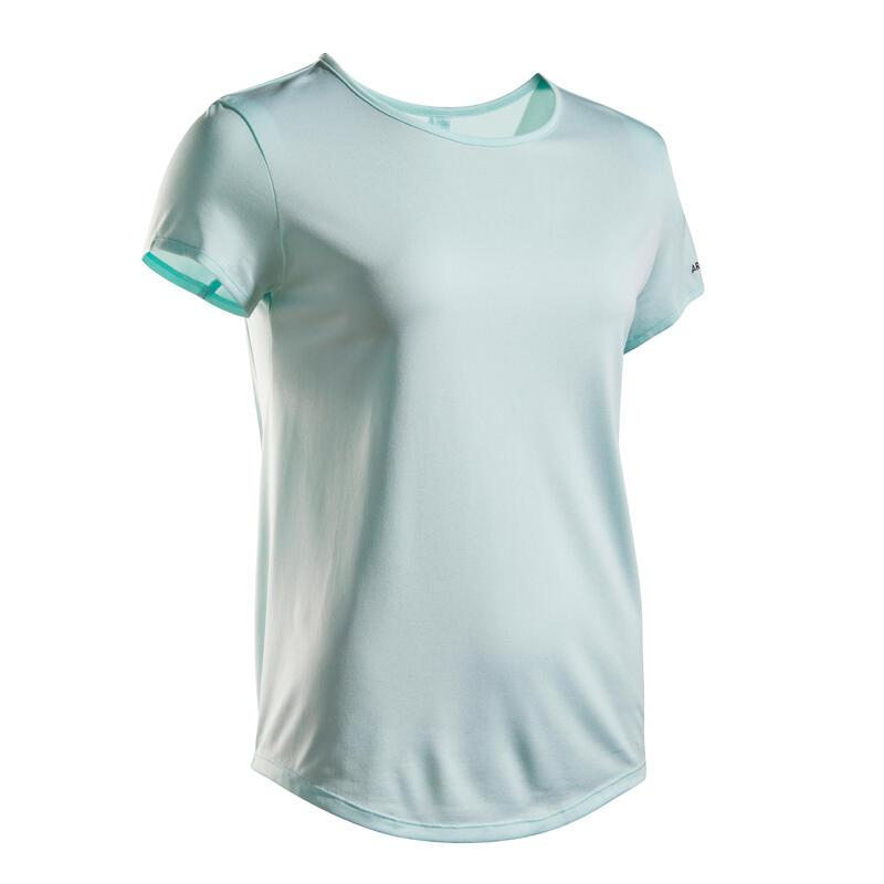 女款網球T恤TS Dry 100-淺綠色