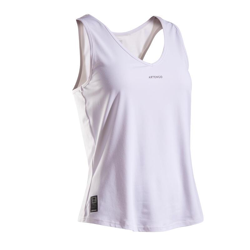 Women's Tennis Tank Top TK Dry 100 - White