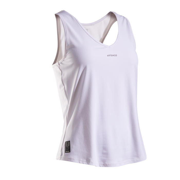 Tennis tank top voor dames TK Dry 100 wit