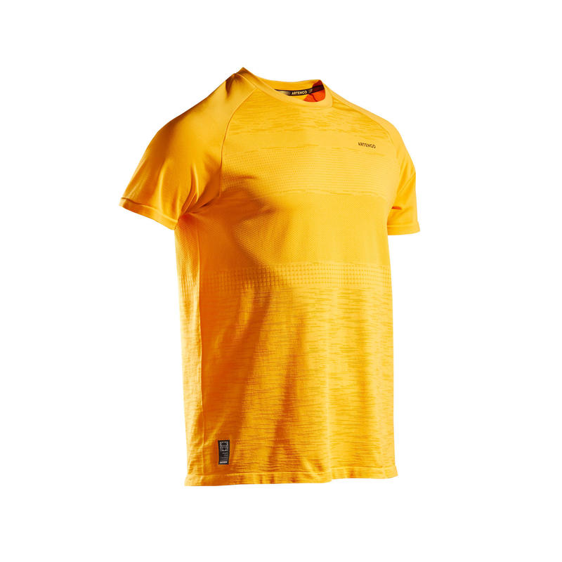 Tennisshirt voor heren TTS 500 Soft geel