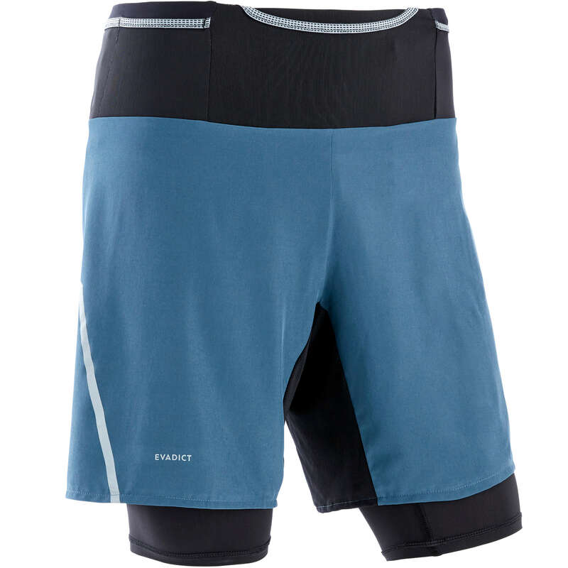 MAN TRAIL RUNNING CLOTHES Clothing - M Tight Shorts Comfort - grey EVADICT - Bottoms