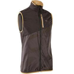 男款越野跑步無袖外套 - 灰黑配色