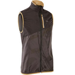 MEN'S TRAIL RUNNING SLEEVELESS JACKET - GREY/BLACK