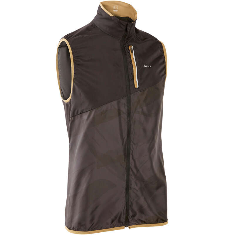 MAN TRAIL RUNNING CLOTHES Trail Running - M TRAIL SLEEVELESS JACKET GREY EVADICT - Trail Running Clothes