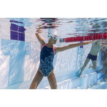 Zwembril 500 Active maat S wit/groen met heldere glazen