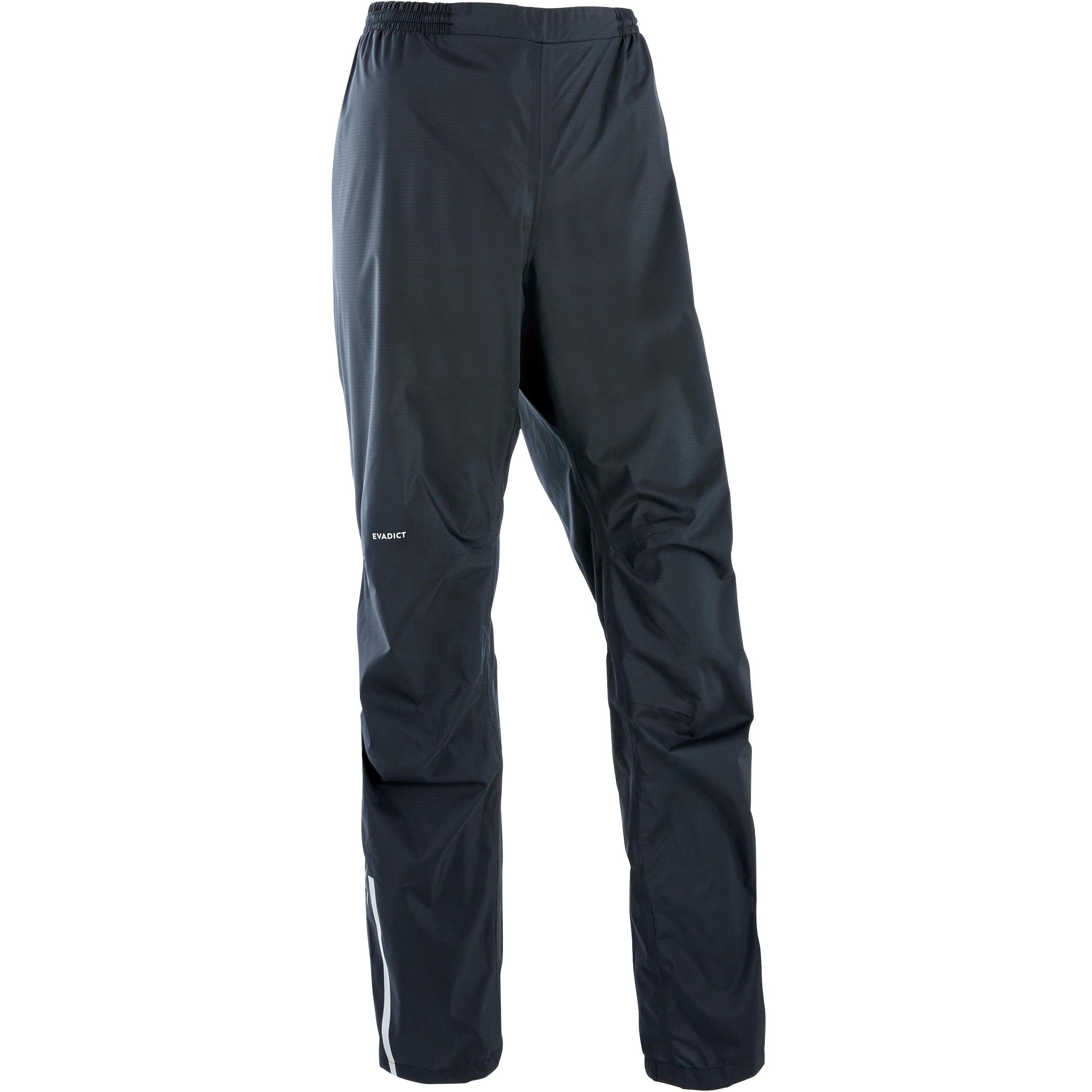 Pantalon imperméable trail running femme noir kalenji