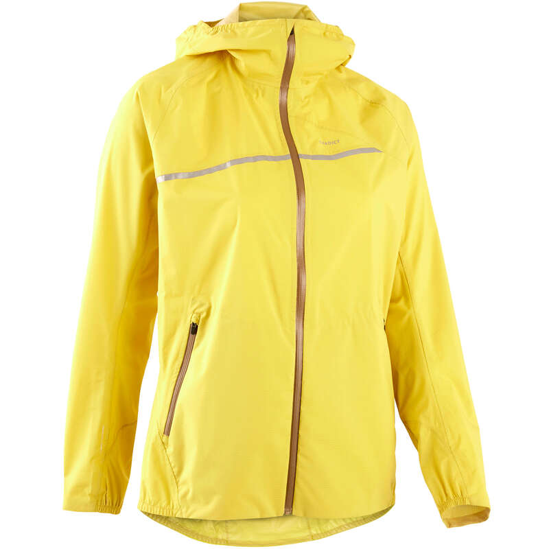 WOMAN TRAIL RUNNING CLOTHES Trail Running - WATERPROOF TRAIL JACKET OCHRE EVADICT - Trail Running Clothes