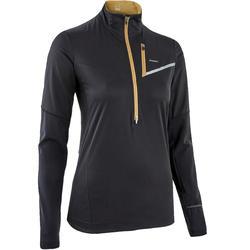 Women's Softshell Long-Sleeved Trail Running Jersey - Black/bronze