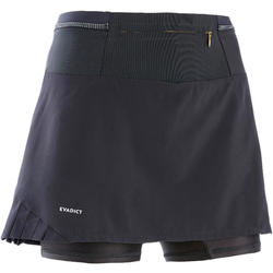 WOMEN'S TRAIL RUNNING SKORT - BLACK/BRONZE