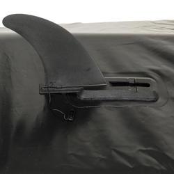 Finne ohne Werkzeug für Stand Up Paddle oder Kajak aufblasbar Größe L schwarz