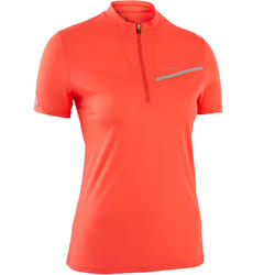 Dames-T-shirt voor traillopen aardbeirood