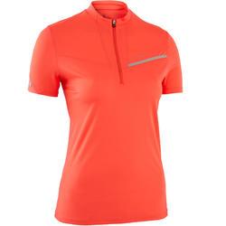 T-shirt voor traillopen dames aardbeirood