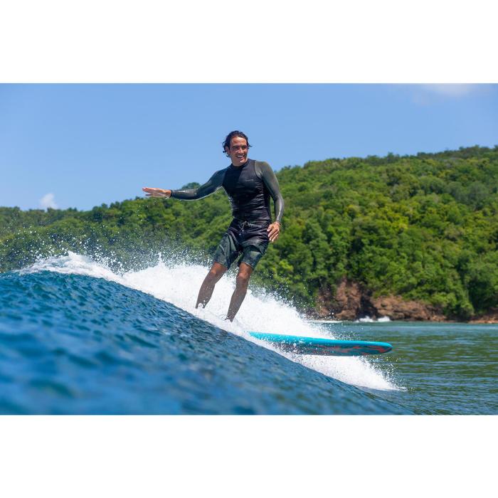 UV-Shirt langarm Surfen Top 500 Herren khaki