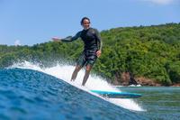 Playera Top Surf 500 Hombre Anti-UV Manga Larga Caqui