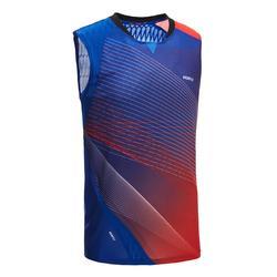 Badmintonshirt voor heren 990 blauw/rood