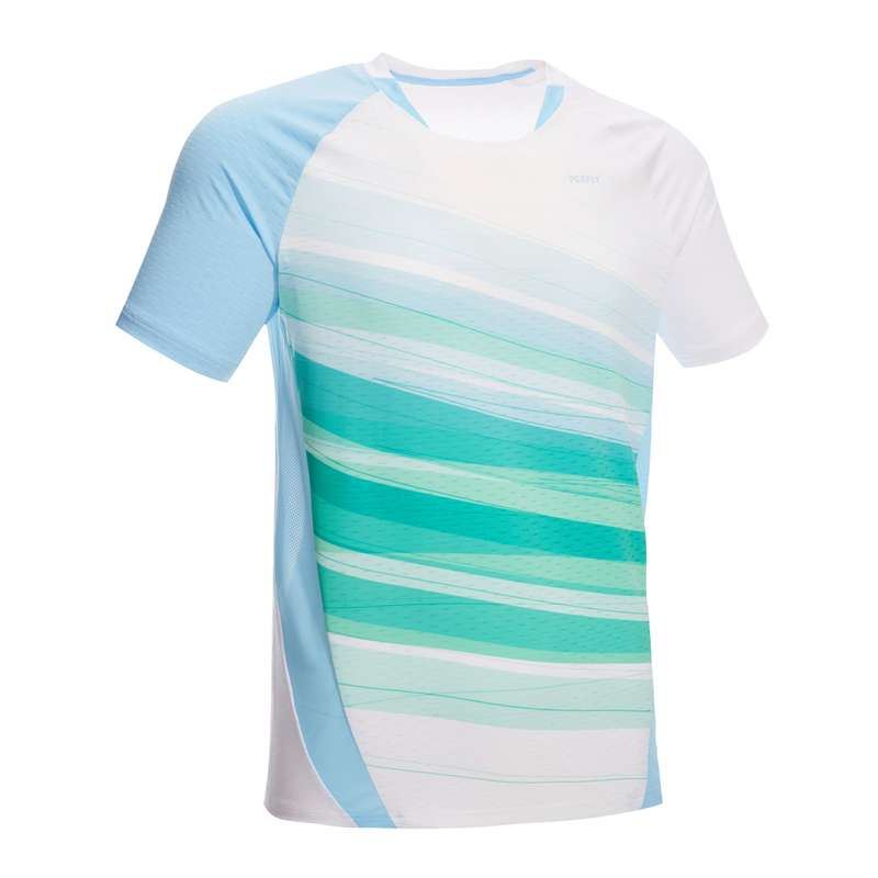 HABILLEMENT BADMINTON HOMME Abbigliamento uomo - T-shirt uomo 560 bianco-verde PERFLY - Abbigliamento uomo