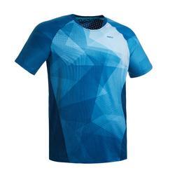 Badmintonshirt voor heren 560 petrolblauw/blauw