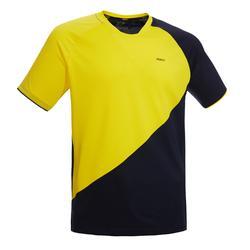 男款T恤530-藍黃配色