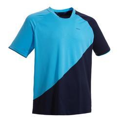 Badmintonshirt voor heren 530 marineblauw/blauw