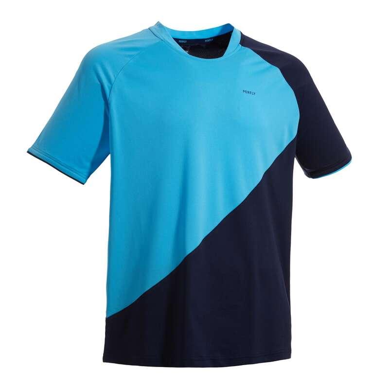 MEN'S INTERMEDIATE BADMINTON APPAREL Badminton - T-shirt 530 M NAVY BLUE PERFLY - Badminton Clothing