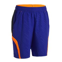兒童款短褲560-藍橘配色