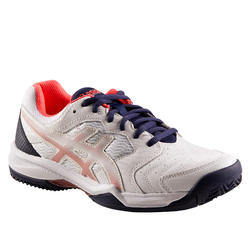 TENNISSCHOEN DAMES ASICS GEL DEDICATE WIT GRAVEL