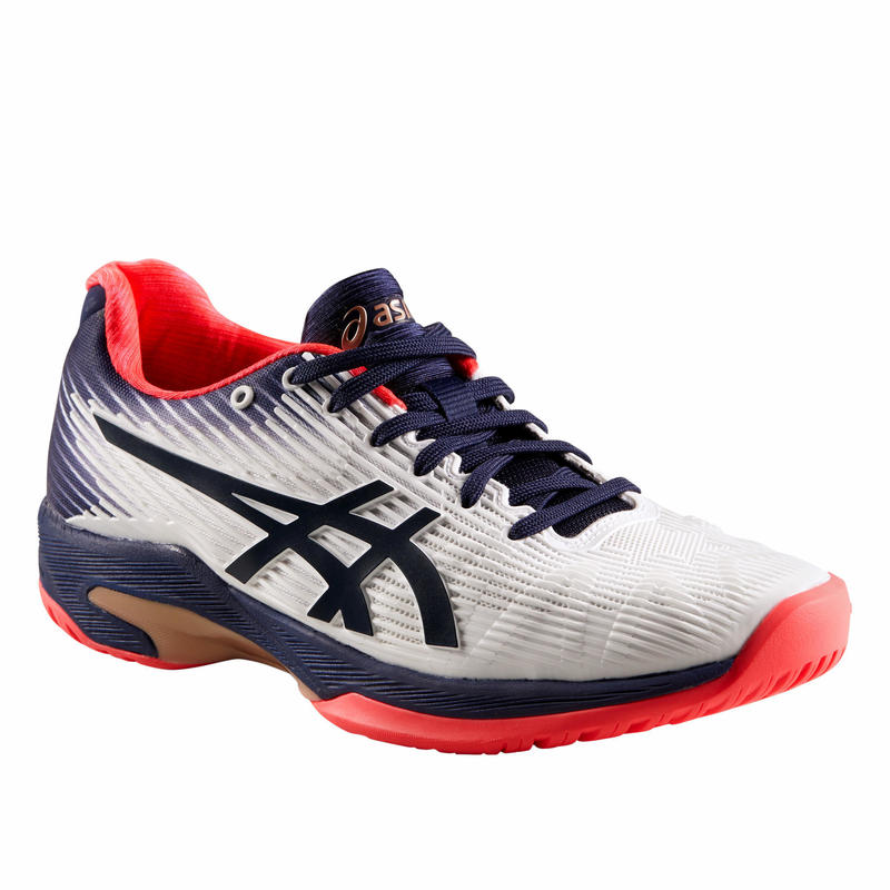 Women's Tennis Shoes Solution Speed - White/Blue