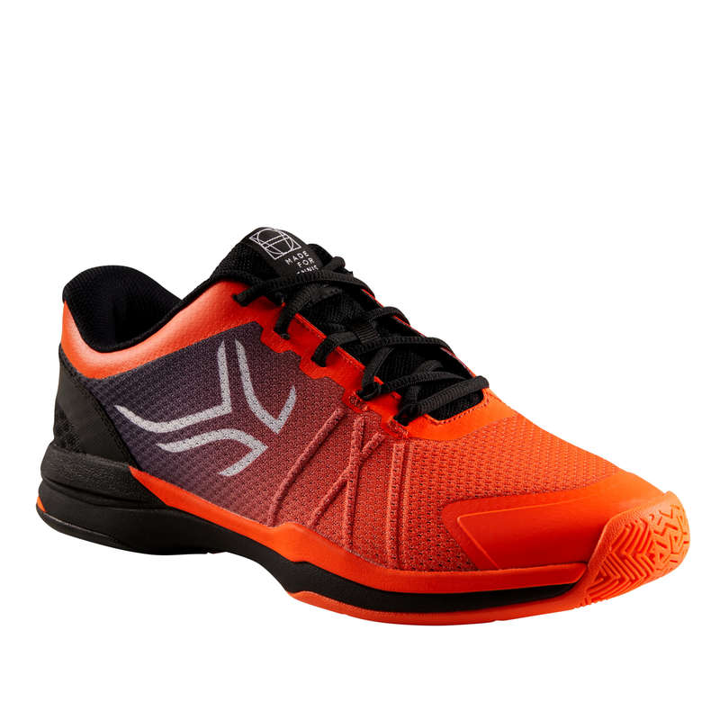MEN BEG/INTER MULTICOURT SHOES Tennis - TS590 - Orange/Black ARTENGO - Tennis