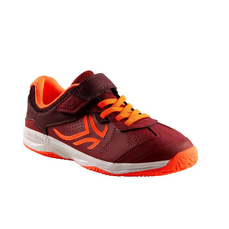 Tennisschoenen voor kinderen TS160 donkerrood