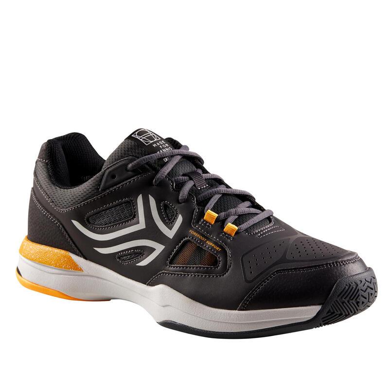 Men's Multi-Court Tennis Shoes TS500 - Grey/Yellow