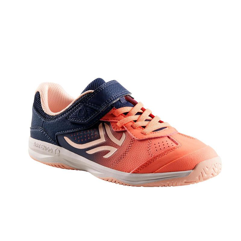 Scarpe tennis bambino TS160 rosa/arancio-blu
